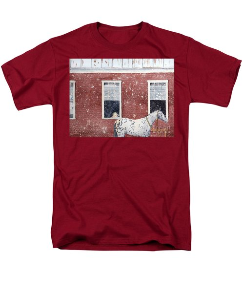 Men's T-Shirt  (Regular Fit) featuring the painting The Ride Home by LeAnne Sowa