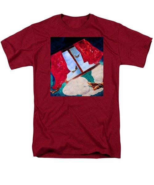 Men's T-Shirt  (Regular Fit) featuring the digital art Through The Window by Janie Johnson