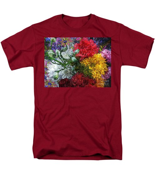 Warning Flowers At Large Men's T-Shirt  (Regular Fit) by Joseph J Stevens
