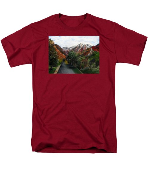 Wasatch Range Looking Up Binford St. Men's T-Shirt  (Regular Fit) by LaVonne Hand