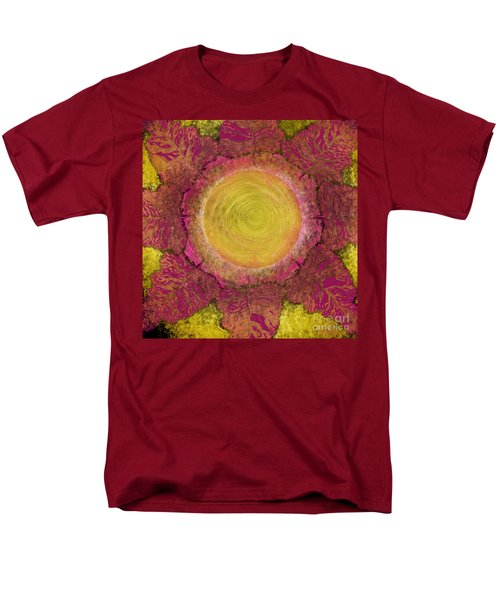 Men's T-Shirt  (Regular Fit) featuring the digital art What Kind Of Sun Iv by Carol Jacobs