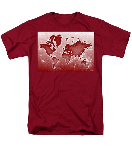 World Map Novo In Red Men's T-Shirt  (Regular Fit) by Eleven Corners