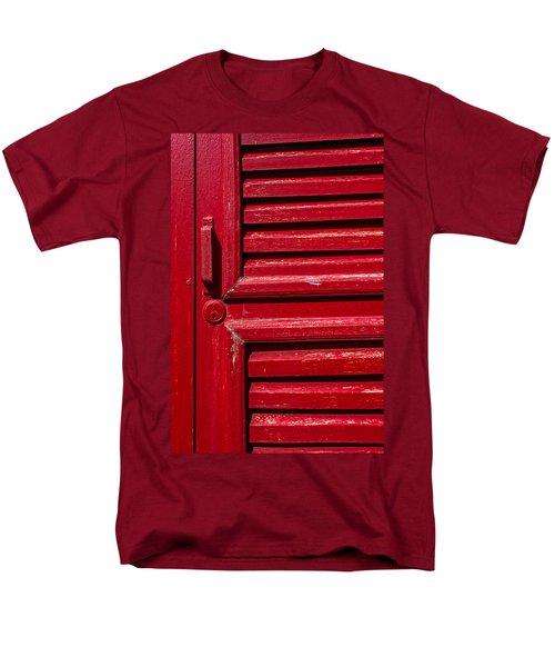 Worn Red Shuttered Door Men's T-Shirt  (Regular Fit) by James Hammond