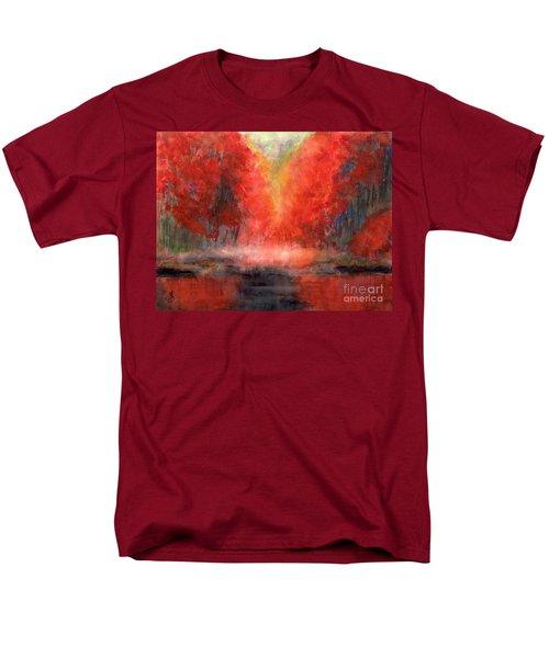 Burning Lake Men's T-Shirt  (Regular Fit) by Yoshiko Mishina
