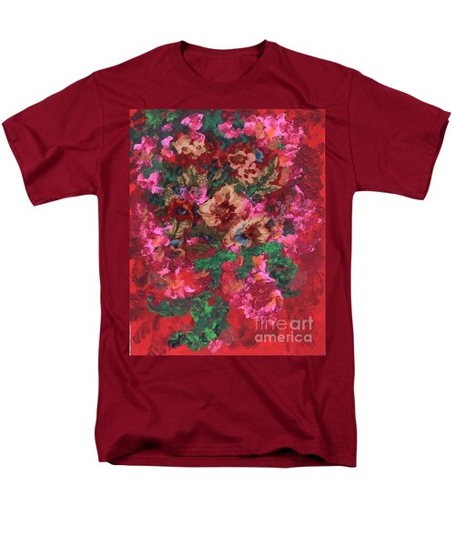 Men's T-Shirt  (Regular Fit) featuring the painting My Sister's Garden I by Alys Caviness-Gober