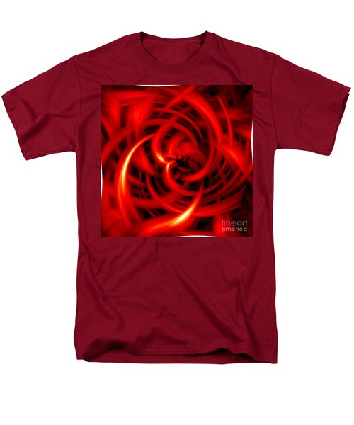 Men's T-Shirt  (Regular Fit) featuring the digital art Red Hot by Davandra Cribbie