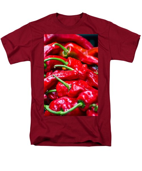Men's T-Shirt  (Regular Fit) featuring the photograph Red Peppers by Don Schwartz