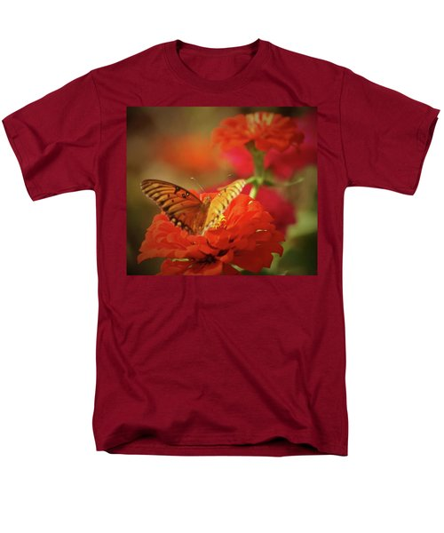 Men's T-Shirt  (Regular Fit) featuring the photograph Butterfly And Flower II by Donna G Smith