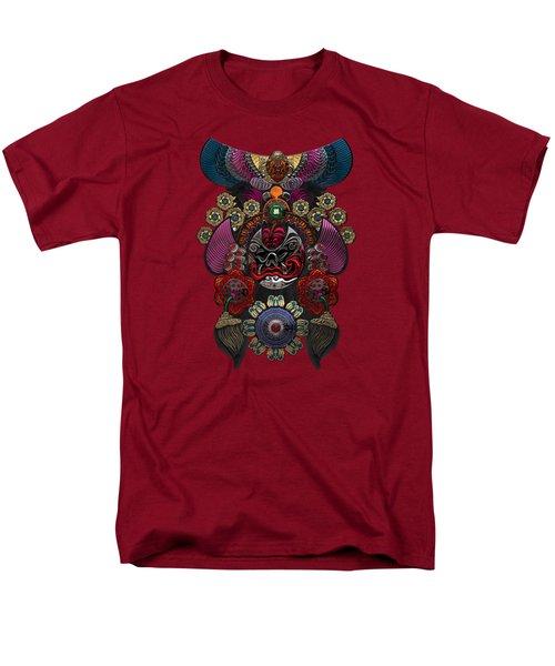 Chinese Masks - Large Masks Series - The Demon Men's T-Shirt  (Regular Fit) by Serge Averbukh