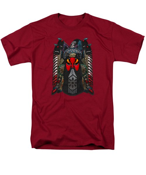 Chinese Masks - Large Masks Series - The Red Face Men's T-Shirt  (Regular Fit) by Serge Averbukh