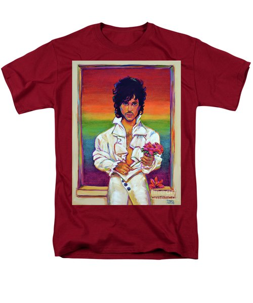 Men's T-Shirt  (Regular Fit) featuring the painting Rainbow Child by Robert Phelps