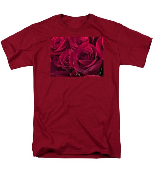 Men's T-Shirt  (Regular Fit) featuring the photograph Red Red Roses by Kay Gilley
