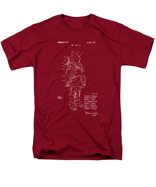 1973 Space Suit Patent Inventors Artwork - Red Men's T-Shirt  (Regular Fit) by Nikki Marie Smith