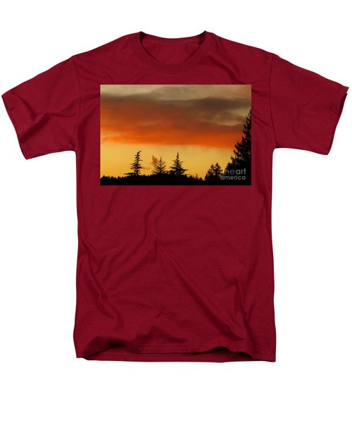 Men's T-Shirt  (Regular Fit) featuring the photograph A Distant Rain by CML Brown