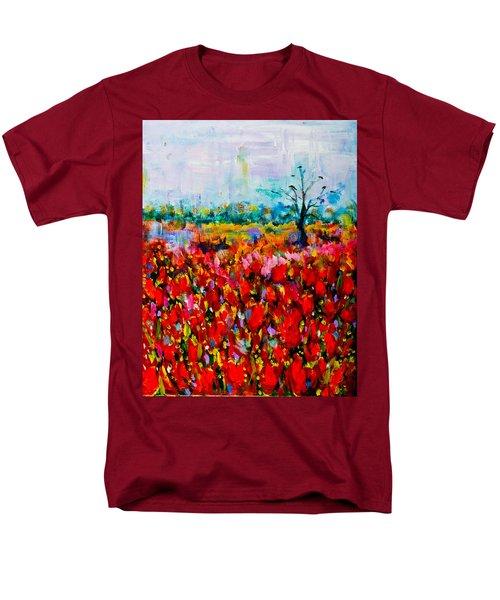 A Field Of Flowers # 2 Men's T-Shirt  (Regular Fit) by Maxim Komissarchik