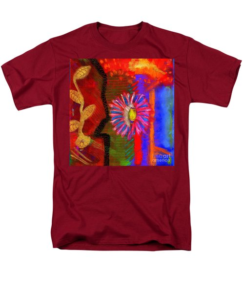 Men's T-Shirt  (Regular Fit) featuring the painting A Flower For You by Angela L Walker