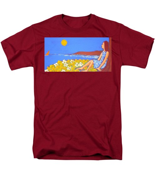 Men's T-Shirt  (Regular Fit) featuring the painting A Quiet Place by Winsome Gunning