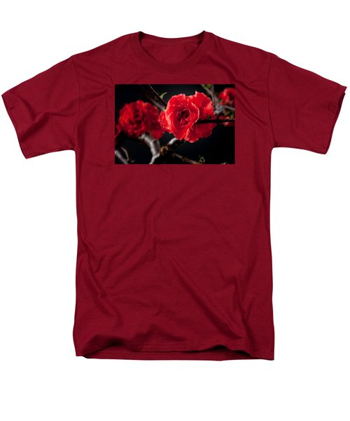 A Red Flower Men's T-Shirt  (Regular Fit) by Catherine Lau