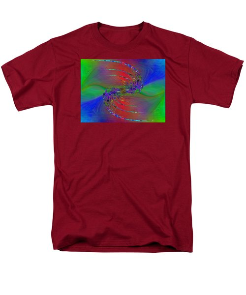 Men's T-Shirt  (Regular Fit) featuring the digital art Abstract Cubed 384 by Tim Allen