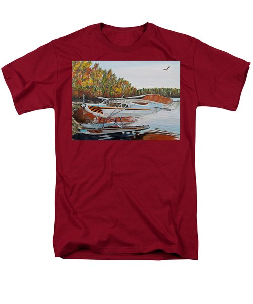 Men's T-Shirt  (Regular Fit) featuring the painting Aeronca Super Chief 0290 by Marilyn  McNish
