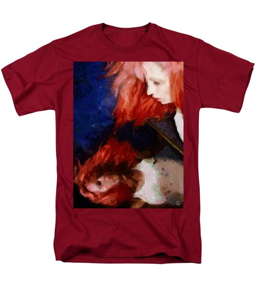 Men's T-Shirt  (Regular Fit) featuring the digital art Are You There My Mirror Twin by Gun Legler