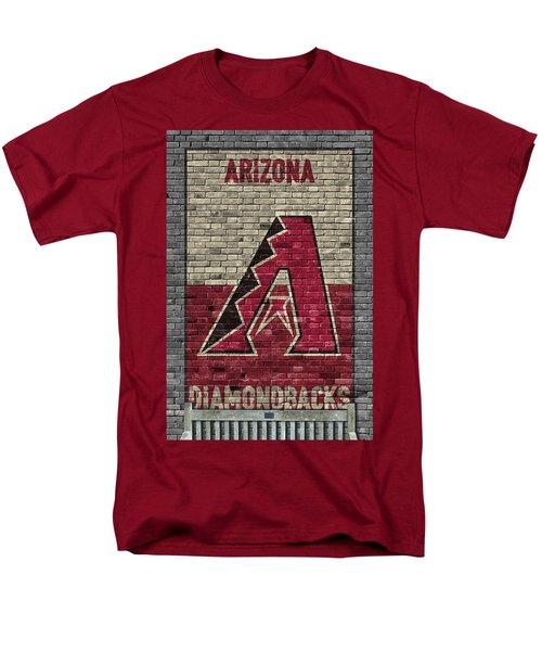 Arizona Diamondbacks Brick Wall Men's T-Shirt  (Regular Fit) by Joe Hamilton