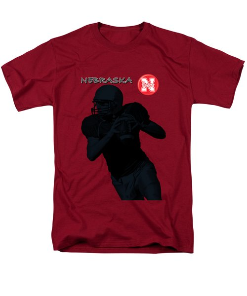 Nebraska Football Men's T-Shirt  (Regular Fit) by David Dehner