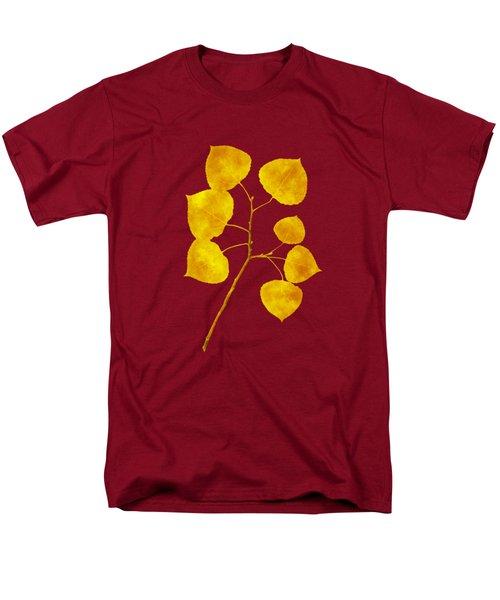 Men's T-Shirt  (Regular Fit) featuring the photograph Aspen Tree Leaf Art by Christina Rollo