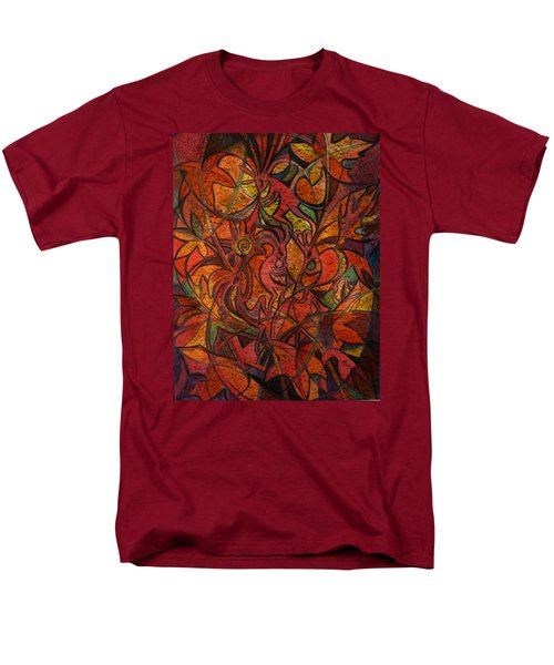Autumn Kokopelli Men's T-Shirt  (Regular Fit) by Anna Duyunova