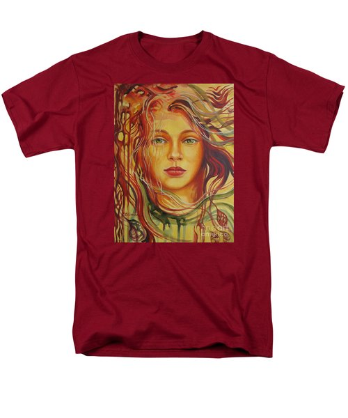 Men's T-Shirt  (Regular Fit) featuring the painting Autumn Wind 2 by Elena Oleniuc