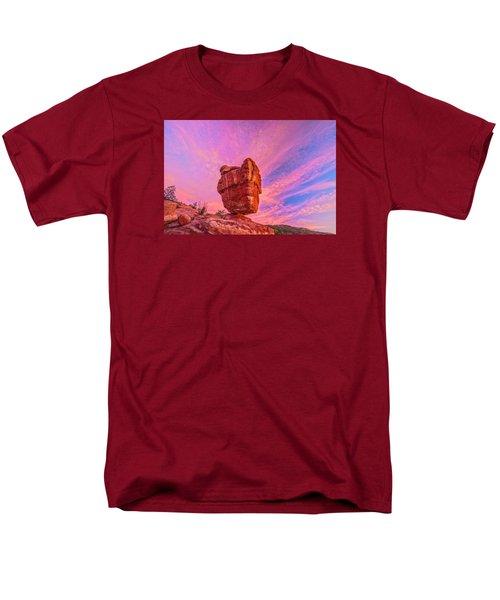 Balanced Precariously  Men's T-Shirt  (Regular Fit) by Bijan Pirnia