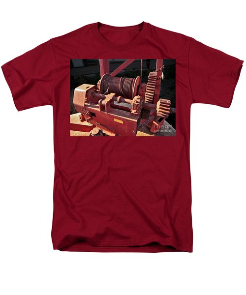 Men's T-Shirt  (Regular Fit) featuring the photograph Big Red Winch by Stephen Mitchell