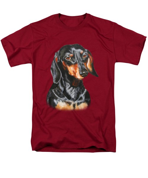 Men's T-Shirt  (Regular Fit) featuring the painting Black Dachshund Accessories by Jimmie Bartlett
