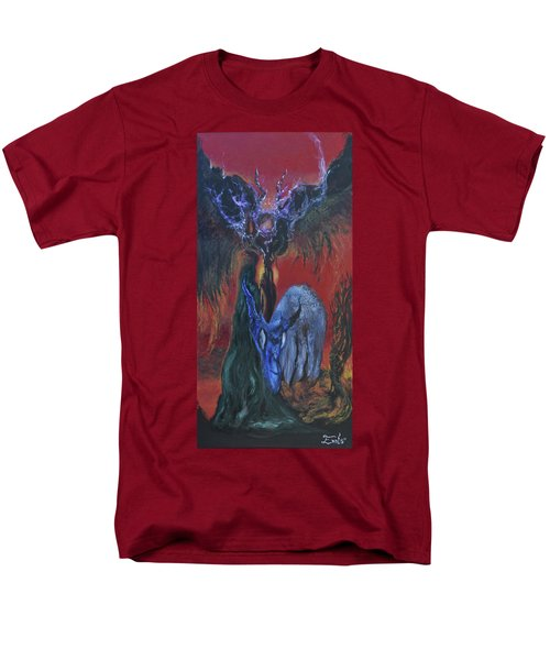 Men's T-Shirt  (Regular Fit) featuring the painting Blackberry Thorn Psychosis by Christophe Ennis