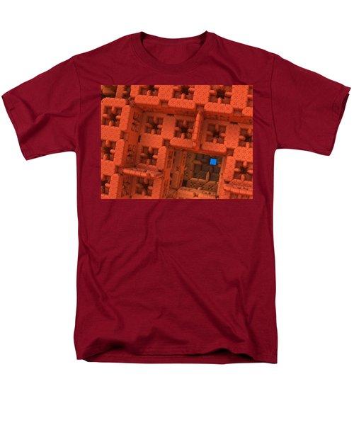 Blue Square Men's T-Shirt  (Regular Fit) by Lyle Hatch