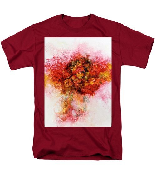 Bouquet In Red Men's T-Shirt  (Regular Fit) by Carolyn Rosenberger