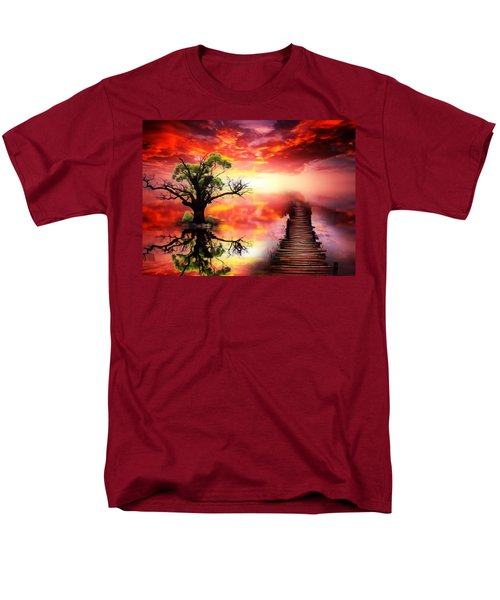 Bridge Into The Unknown Men's T-Shirt  (Regular Fit) by Gabriella Weninger - David