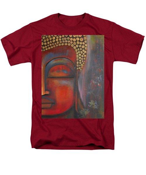 Buddha With Floating Lotuses Men's T-Shirt  (Regular Fit) by Prerna Poojara