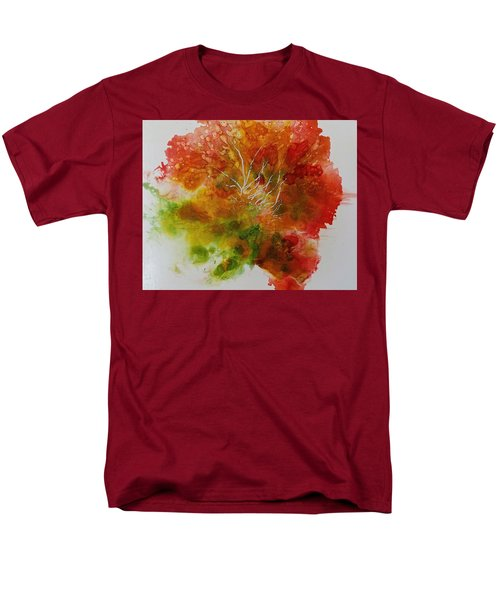 Men's T-Shirt  (Regular Fit) featuring the painting Burst Of Nature by Carolyn Rosenberger