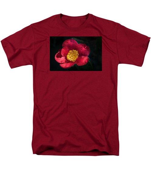 Camellia In Rain Men's T-Shirt  (Regular Fit) by Catherine Lau