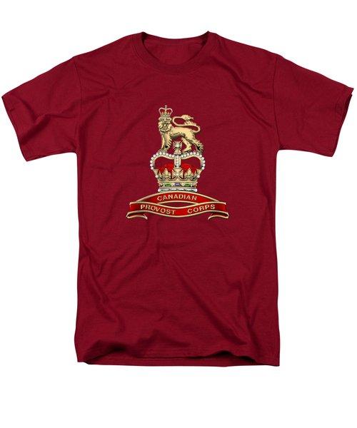 Canadian Provost Corps - C Pro C Badge Over Red Velvet Men's T-Shirt  (Regular Fit) by Serge Averbukh
