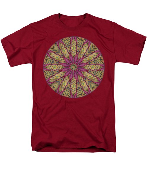 Canna Leaf - Mandala - Transparent Men's T-Shirt  (Regular Fit) by Nikolyn McDonald