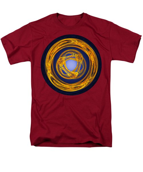 Men's T-Shirt  (Regular Fit) featuring the digital art Celtic Abstract On Blue by Jane McIlroy