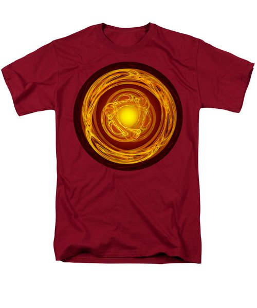 Men's T-Shirt  (Regular Fit) featuring the digital art Celtic Abstract On Red by Jane McIlroy