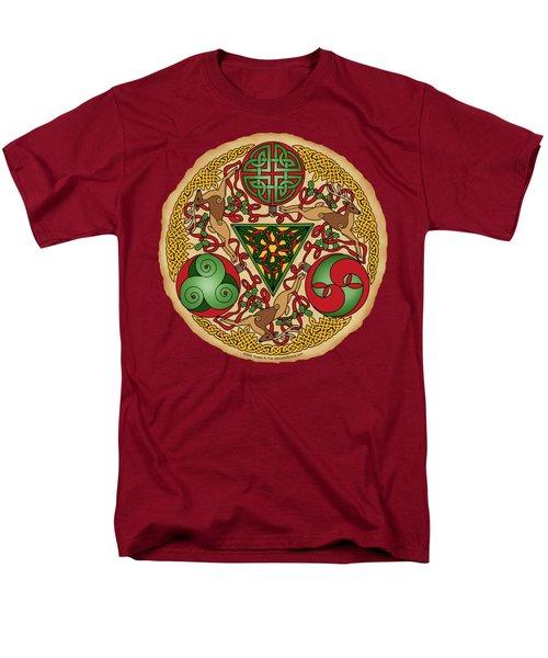 Celtic Reindeer Shield Men's T-Shirt  (Regular Fit) by Kristen Fox
