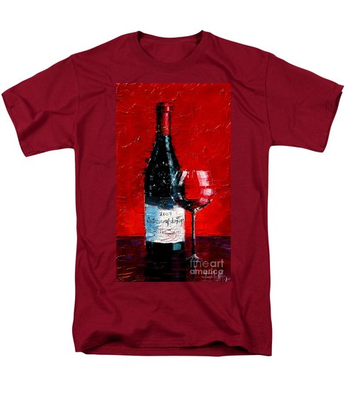 Still Life With Wine Bottle And Glass I Men's T-Shirt  (Regular Fit)