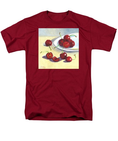 Men's T-Shirt  (Regular Fit) featuring the painting Cherries On A Plate by Susan Thomas