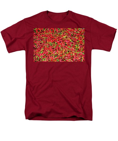Men's T-Shirt  (Regular Fit) featuring the photograph Chillies by Charuhas Images