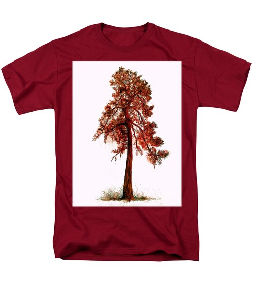 Men's T-Shirt  (Regular Fit) featuring the drawing Chinese Pine Tree Drawing by Maja Sokolowska