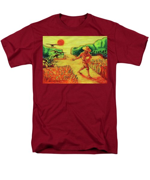 Men's T-Shirt  (Regular Fit) featuring the painting Christian Art Parable Of The Sower Artwork T Bertram Poole by Thomas Bertram POOLE